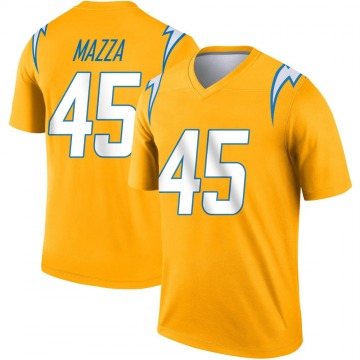 Youth Nike Los Angeles Chargers Cole Mazza Gold Inverted Jersey - Legend