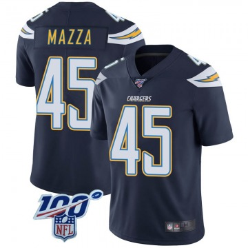 Youth Nike Los Angeles Chargers Cole Mazza Navy 100th Vapor Jersey - Limited