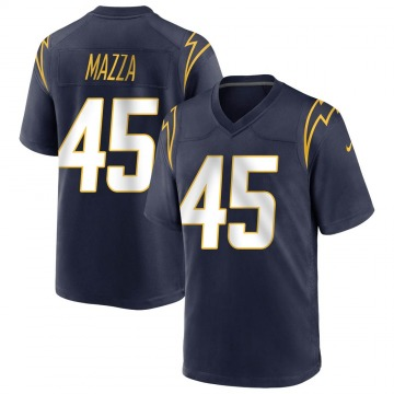 Youth Nike Los Angeles Chargers Cole Mazza Navy Team Color Jersey - Game