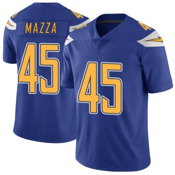 Youth Nike Los Angeles Chargers Cole Mazza Royal Color Rush Vapor Untouchable Jersey - Limited