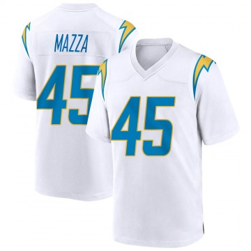 Youth Nike Los Angeles Chargers Cole Mazza White Jersey - Game