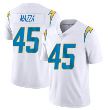 Youth Nike Los Angeles Chargers Cole Mazza White Vapor Untouchable Jersey - Limited