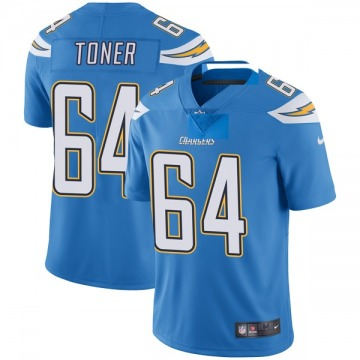 Youth Nike Los Angeles Chargers Cole Toner Blue Powder Vapor Untouchable Alternate Jersey - Limited