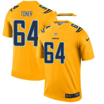 Youth Nike Los Angeles Chargers Cole Toner Gold Inverted Jersey - Legend