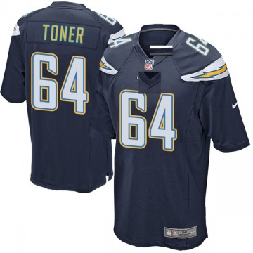 Youth Nike Los Angeles Chargers Cole Toner Navy Team Color Jersey - Game
