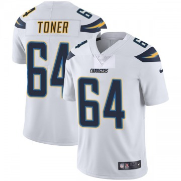 Youth Nike Los Angeles Chargers Cole Toner White Vapor Untouchable Jersey - Limited