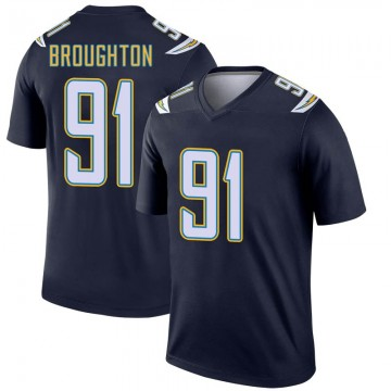 Youth Nike Los Angeles Chargers Cortez Broughton Navy Jersey - Legend