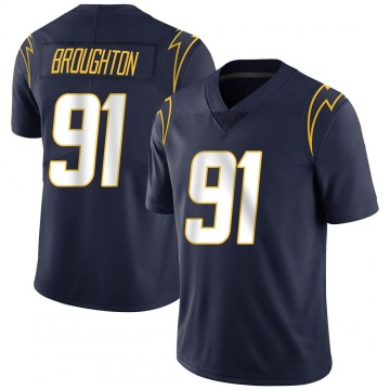 Youth Nike Los Angeles Chargers Cortez Broughton Navy Team Color Vapor Untouchable Jersey - Limited