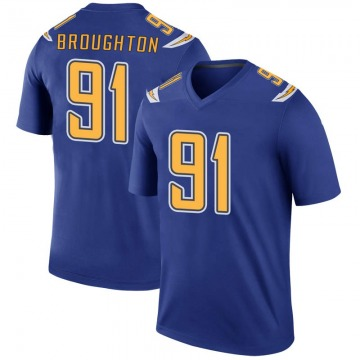 Youth Nike Los Angeles Chargers Cortez Broughton Royal Color Rush Jersey - Legend