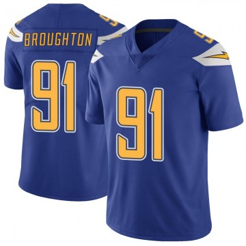 Youth Nike Los Angeles Chargers Cortez Broughton Royal Color Rush Vapor Untouchable Jersey - Limited