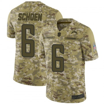 Youth Nike Los Angeles Chargers Dalton Schoen Camo 2018 Salute to Service Jersey - Limited