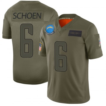 Youth Nike Los Angeles Chargers Dalton Schoen Camo 2019 Salute to Service Jersey - Limited