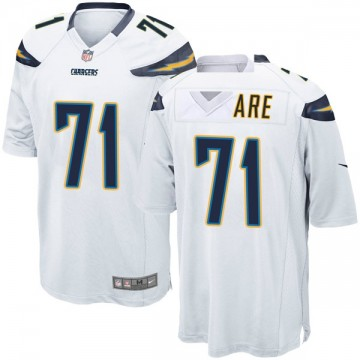 Youth Nike Los Angeles Chargers Damion Square White Jersey - Game