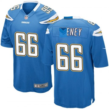 Youth Nike Los Angeles Chargers Dan Feeney Blue Powder Alternate Jersey - Game