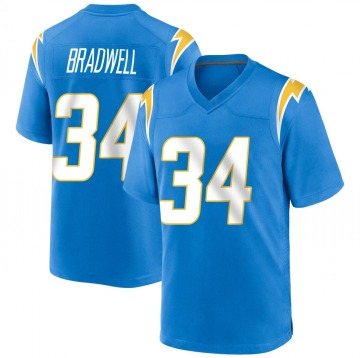 Youth Nike Los Angeles Chargers Darius Bradwell Blue Powder Alternate Jersey - Game