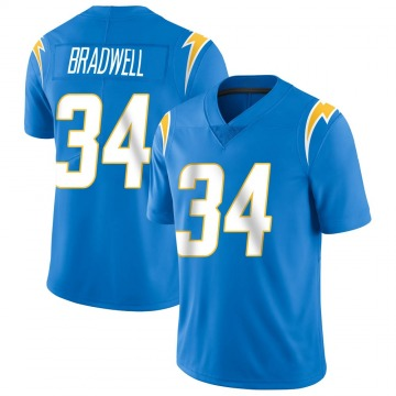Youth Nike Los Angeles Chargers Darius Bradwell Blue Powder Vapor Untouchable Alternate Jersey - Limited