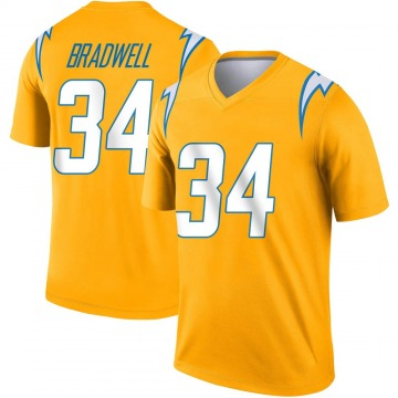 Youth Nike Los Angeles Chargers Darius Bradwell Gold Inverted Jersey - Legend