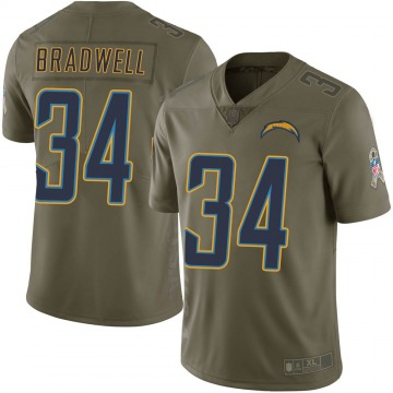 Youth Nike Los Angeles Chargers Darius Bradwell Green 2017 Salute to Service Jersey - Limited