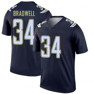 Youth Nike Los Angeles Chargers Darius Bradwell Navy Jersey - Legend
