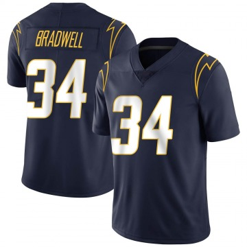Youth Nike Los Angeles Chargers Darius Bradwell Navy Team Color Vapor Untouchable Jersey - Limited