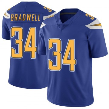 Youth Nike Los Angeles Chargers Darius Bradwell Royal Color Rush Vapor Untouchable Jersey - Limited