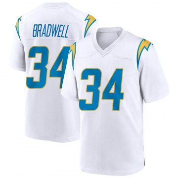 Youth Nike Los Angeles Chargers Darius Bradwell White Jersey - Game