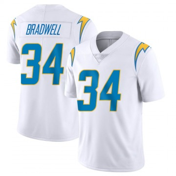 Youth Nike Los Angeles Chargers Darius Bradwell White Vapor Untouchable Jersey - Limited
