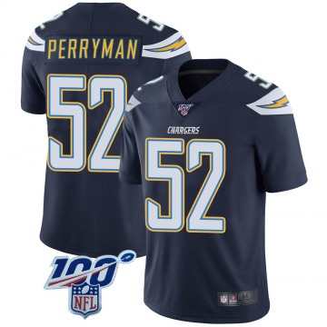 Youth Nike Los Angeles Chargers Denzel Perryman Navy 100th Vapor Jersey - Limited