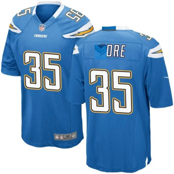 Youth Nike Los Angeles Chargers Derrick Gore Blue Powder Alternate Jersey - Game