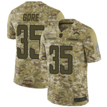Youth Nike Los Angeles Chargers Derrick Gore Camo 2018 Salute to Service Jersey - Limited