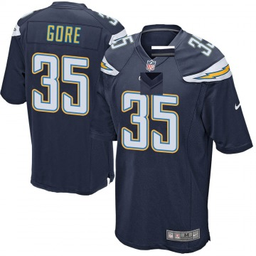 Youth Nike Los Angeles Chargers Derrick Gore Navy Team Color Jersey - Game
