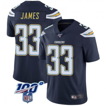 Youth Nike Los Angeles Chargers Derwin James Navy 100th Vapor Jersey - Limited