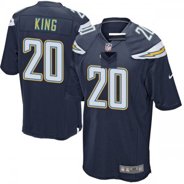 Youth Nike Los Angeles Chargers Desmond King Navy Team Color Jersey - Game