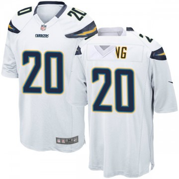 Youth Nike Los Angeles Chargers Desmond King White Jersey - Game