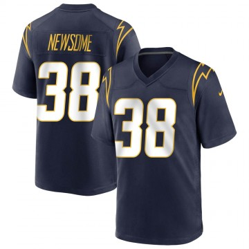 Youth Nike Los Angeles Chargers Detrez Newsome Navy Team Color Jersey - Game