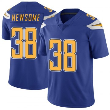 Youth Nike Los Angeles Chargers Detrez Newsome Royal Color Rush Vapor Untouchable Jersey - Limited