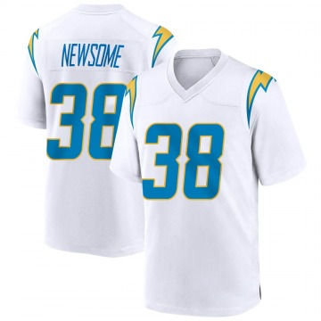 Youth Nike Los Angeles Chargers Detrez Newsome White Jersey - Game