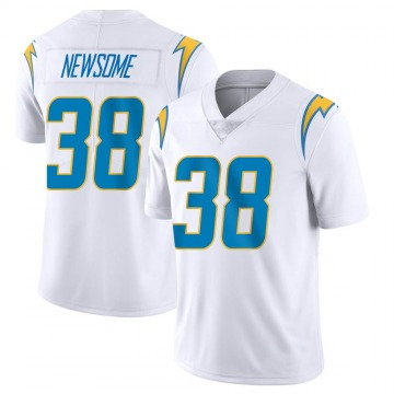 Youth Nike Los Angeles Chargers Detrez Newsome White Vapor Untouchable Jersey - Limited