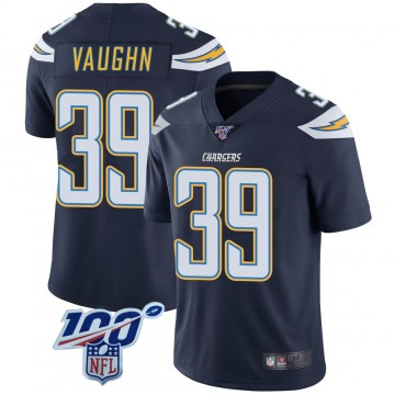 Youth Nike Los Angeles Chargers Donte Vaughn Navy 100th Vapor Jersey - Limited