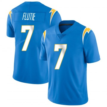 Youth Nike Los Angeles Chargers Doug Flutie Blue Powder Vapor Untouchable Alternate Jersey - Limited