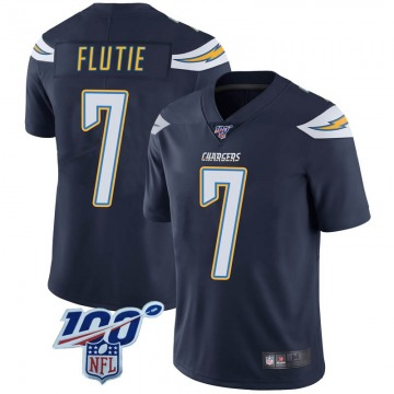 Youth Nike Los Angeles Chargers Doug Flutie Navy 100th Vapor Jersey - Limited