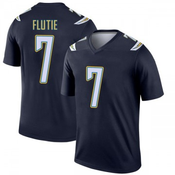 Youth Nike Los Angeles Chargers Doug Flutie Navy Jersey - Legend