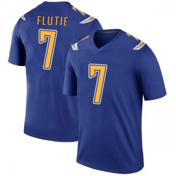 Youth Nike Los Angeles Chargers Doug Flutie Royal Color Rush Jersey - Legend
