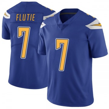 Youth Nike Los Angeles Chargers Doug Flutie Royal Color Rush Vapor Untouchable Jersey - Limited