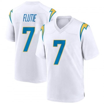 Youth Nike Los Angeles Chargers Doug Flutie White Jersey - Game