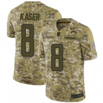 Youth Nike Los Angeles Chargers Drew Kaser Camo 2018 Salute to Service Jersey - Limited