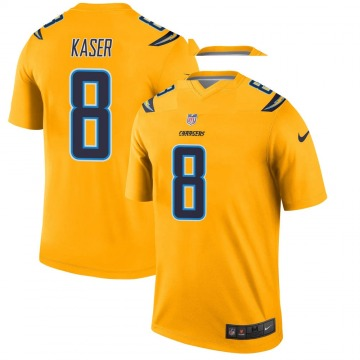 Youth Nike Los Angeles Chargers Drew Kaser Gold Inverted Jersey - Legend