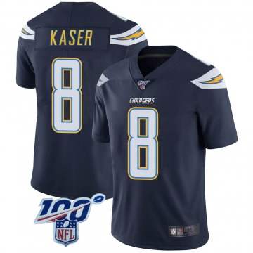 Youth Nike Los Angeles Chargers Drew Kaser Navy 100th Vapor Jersey - Limited
