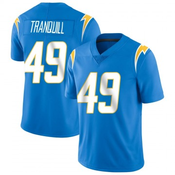 Youth Nike Los Angeles Chargers Drue Tranquill Blue Powder Vapor Untouchable Alternate Jersey - Limited