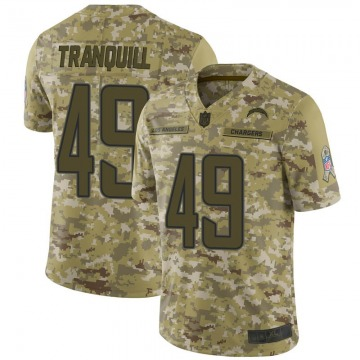 Youth Nike Los Angeles Chargers Drue Tranquill Camo 2018 Salute to Service Jersey - Limited